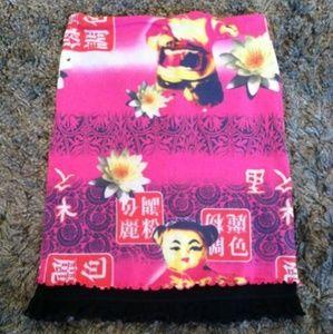 Dresses & Skirts - Funky Pink Asian Inspired Skirt